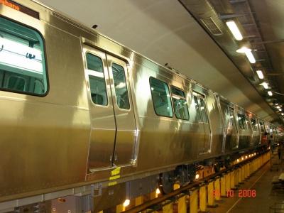 Metro Train Welding Working