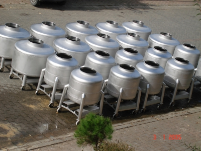 350-600 Liters Capacity Mobil Pot Tanks